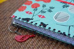 Agenda diária Luxo com chaveiro Papel Craft