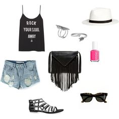 Summer rock by irialore on Polyvore featuring polyvore fashion style J.J. Winters First People First Jewel Exclusive J.Crew H&M Essie