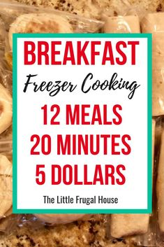 Breakfast freezer cooking 11 breakfast freezer meals in 20 minutes the original instant pot freezer meal boot camp one day of work over 30 home cooked recipes! Budget Freezer Meals, Make Ahead Freezer Meals, Freezer Cooking, Frugal Meals, Cheap Meals, Easy Meals, Easy Recipes, Inexpensive Meals, Budget Recipes