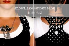 How-To: Snowflake Cutout Tank Top from Heidi at Honeybear Lane