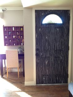 This door is the inspiration for what will be my floor. It looks...Tim Burtonesque. Yes. That is what I want. Tim Burtonesque flooring.