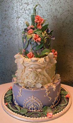 art nouveau wedding cakes