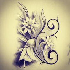 Edelweiss & Kowhai flower tattoo design. by studio41nz via ...