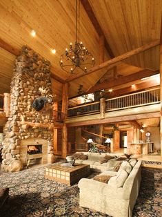 Log Cabin Kitchens Design, Pictures, Remodel, Decor and Ideas - page 11....I'm gonna need to get rich first...