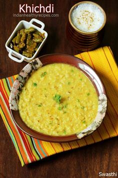 Khichdi is a one pot rice lentil comfort food that's delicious, wholesome, nutritious & light for digestion. Instructions for regular pot, pressure cooker & instant pot. (can also add green peas) Baby Food Recipes, Cooking Recipes, Rice Recipes, Cooking Rice, Lentil Recipes, Snack Recipes, Moong Dal Khichdi, Indian Veg Recipes, Jain Recipes