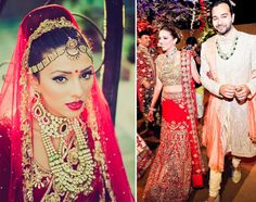 Glamorous Bridal Makeup and two styles of hair buns by Bianca Louzado for the wedding of Payal Shah of WeddingSutra.