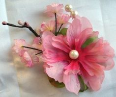Etsy - A Touch of Spring Pink Fascinator Hair Clip
