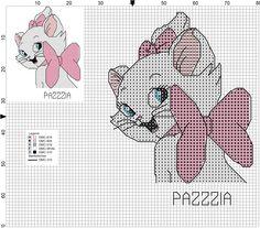 Cross stitch and embroidery pattern Disney Cross Stitch Patterns, Cross Stitch For Kids, Cross Stitch Baby, Cross Stitch Animals, Counted Cross Stitch Patterns, Cross Stitch Charts, Cross Stitch Designs, Beaded Cross Stitch, Cross Stitch Embroidery