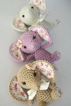 Inspiration on how to make amigurumi even cuter with adding fabric and embellishments :)