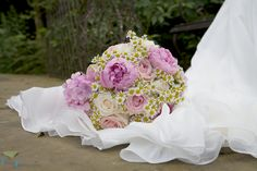 Hydrangea wedding flowers Bridal bouquets www.blushrose.co.uk Manchester wedding flowers and florist pastel blooms