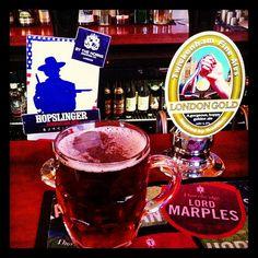 Hopslinger by the Horns Plus London Gold by Twickenham F A. both ruddy marvelous Craft Beer, Horns, Ale, London, Tableware, Antlers, Big Ben London, Dinnerware, Horn