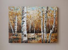 Birch tree painting tutorial etsy 58 new ideas Birch Tree Art, Small Canvas Art, Forest Painting, Contemporary Abstract Art, Abstract Photography, Palette Knife, Art Paintings, Original Paintings, Birches
