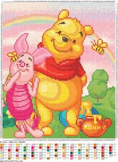 CHARMS IN POINT CROSS: Pooh: