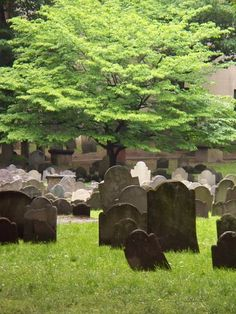 Boston, Granary burial ground has the most amazing old grave markers.