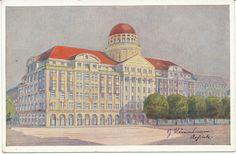 alte AK Leipzig vor 1945, Geschäftshaus Zeitzer Straße 8-14