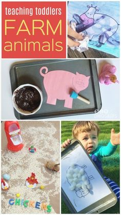 If you're anything like me you've noticed that when your kids become interested in something, they're all in. Well right now we are on quite the animal kick! This week, we took our teaching toddlers lesson to the farm with lots of sensory activities, crafts, art projects, and more! Join us! #Teachingtoddlers