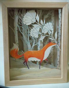 papier découpé dans une petite boîte en bois par CamilleGaroche