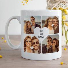 Personalized Coffee Mug / Custom Photo Text Logo Name Printed / Gift Cup. Photo Mugs, Photo Gifts, Heart Collage, Best Coffee Mugs, Camping Coffee, Personalized Coffee Mugs, Unique Presents, Cute Mugs, Surprise Gifts