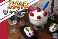 Learn how to make Paper Mario Couple's Cake from Lvl.1 Chef! Homemade snow ice cream made with sweetened condensed milk and vanilla. Super easy and tasty video game food recipes. http://www.level1chef.com/paper-mario-couples-cake-snow-ice-cream/ #mario #videogamefood #videogames #icecream #recipe #lvl1chef #snow