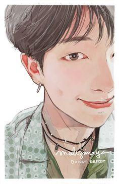 말리지마요 on, 2019 bts fan-art bts, bts drawings ve bts wallpape Namjoon, Taehyung, Rapmon, Fan Art, Bts Anime, Bts Drawings, Bts Chibi, Bts Lockscreen, Bts Fans
