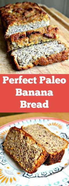 A delicious Paleo Banana Bread that tastes just like the real thing.IngredientsVegetarian, Gluten free, Paleo∙ Makes 1 Bananas, very ripe […] Paleo Bread, Paleo Baking, Paleo Food, Bread Diet, Food Nutrition, Yeast Bread, Paleo Vegan, Paleo Sweets, Paleo Dessert