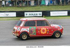 1966 Mini Cooper S belonging to George Harrison of the Beatles - Stock Image