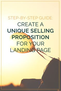 Let's dig into one very important over-arching landing page element: your unique selling proposition (USP) what it is, why you need it and how to create it to stand out from your competition. Sales And Marketing, Content Marketing, Business Marketing, Blog Writing, Writing Tips, Unique Selling Proposition, Web Design, Email Subject Lines, Pinterest For Business