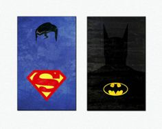 Superheroes Poster - Justice League Canvas Print Gallery Wrapped  Batman Poster Superman Poster
