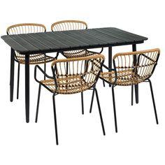 Pöytä Neapel 140x78x74 cm Musta Aintwood - Pöytä - Rusta.com Amalfi, Outdoor Furniture, Outdoor Decor, Norman, Hong Kong, Madrid, Table, Home Decor, Tripod