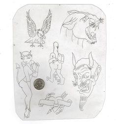 Vintage Tattoo Design, Tattoo Catalog, Tattoo Flash Sheet, Biker Tattoos, Religious Tattoos, Traditional Tattoo Flash, Vintage Flash, Brittle Nails, American Traditional