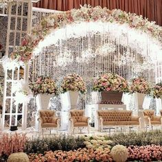 Trendy wedding decorations stage events 64 Ideas T Wedding Stage Decorations, Wedding Themes, Indian Flowers, Appartement Design, Fairytale Weddings, Trendy Wedding, Luxury Wedding, Garden Wedding, Backdrops