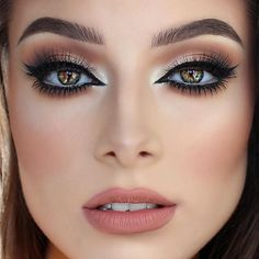Glam look in neutral brown/beiage shades #evatornadoblog #makeupideas…