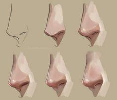 Coloring the nose of a man   покрас носа Drawing   рисовать