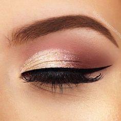 Rose Gold Makeup Looks, Pink Eye Makeup, Simple Eye Makeup, Eye Makeup Tips, Makeup For Brown Eyes, Makeup Ideas, Makeup Trends, Makeup Inspiration, Pretty Makeup