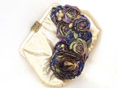 Wedding Bride Flower Handbag in Shimmering Gold by ZiLLAsQuEeN, $32.00