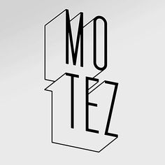 Motez - Very simple 3D typeface that works well. I am going to use this kind of typeface to do a simple 3D typeface for my designs.