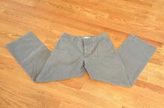 Old-Navy-Mens-30-x-30-Gray-Slacks-Flat-Front-Excellent-Condition