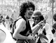 Carlos Santana at Woodstock, 1969