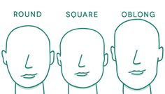 How to Determine Face Shape - ROUND SQUARE OBLONG