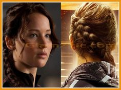Katniss Everdeen Braid Hairstyle Hunger Games Front and Back View