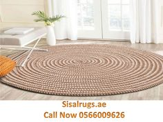 Round Carpet Floor Protection Cover Home Parlor Striped Living Room Mat Round Carpet Tatami Rug New Arrival - Flowery Homes Round Carpet Floor Protection Cover Home Parlor Striped Living Room Mat Round Carpet Tatami Rug New Jute Carpet, Beige Carpet, Diy Carpet, Rugs On Carpet, Carpet Types, Carpet Decor, Jute Rug, Woven Rug, Kilim Rugs