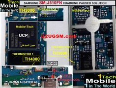 Samsung Galaxy 2016 Charging Paused Solution Jumpers In Above diagram a resistance is defined so you have to remove this All Mobile Phones, Mobile Phone Repair, Account Verification, Power Button, Circuit, Jumper, Smartphone, Samsung Galaxy, Diagram