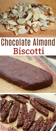 Chocolate Almond Biscotti – One Hundred Dollars a Month – Cookies Almond Biscotti Recipe Italian, Chocolate Almond Biscotti Recipe, Easy Biscotti Recipe, Italian Cookie Recipes, Italian Cookies, Almond Cookies, Chocolate Recipes, Baking Recipes, Lemon Biscotti