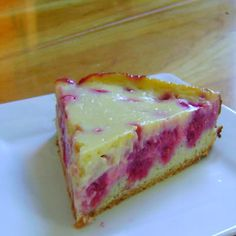 how to make german raspberry kuchen - sort of cheesecake