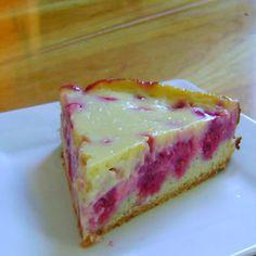 how to make german raspberry kuchen - sort of cheesecake