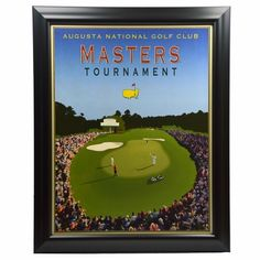 Vintage Style Masters Tournament Poster Featuring 18th Hole - Framed