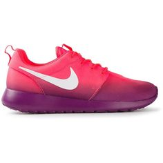 NIKE sneakers ($130) ❤ liked on Polyvore featuring shoes, sneakers, nike, footwear, sport, pink shoes, leather shoes, sports shoes and leather lace up shoes