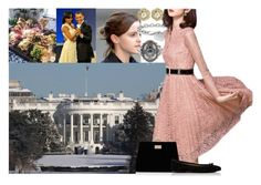 """""""day 10: Attending a brunch hosted by Barack Obama at the White House"""" by damen-i-min-fantasi ❤ liked on Polyvore featuring Kate Spade, Emma Watson, Blue Nile and Forever New"""
