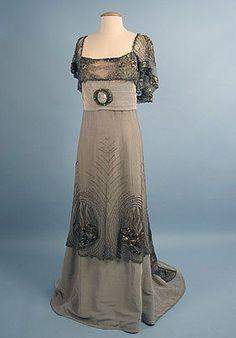 Opal grey evening dress, by Doucet, c. 1900