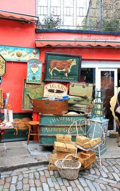 The Portobello Market in charming Notting Hill ~ London.
